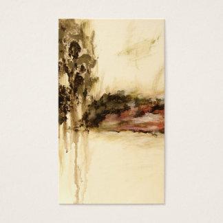 A arte ambígua, abstrata da paisagem goteja a cartão de visitas