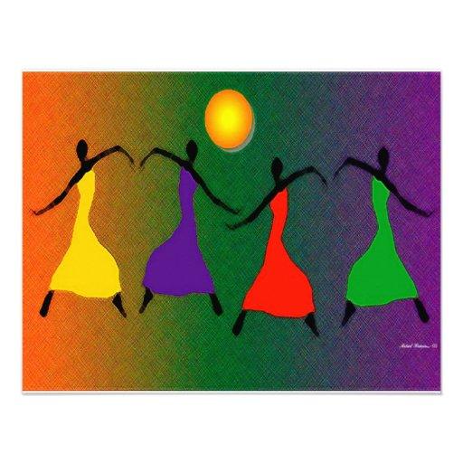 A arte da dança convites personalizados