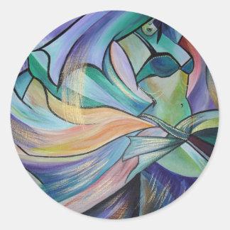 A arte da dança do ventre adesivo