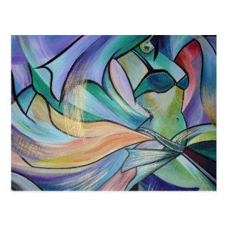 A arte da dança do ventre cartão postal