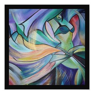 A arte da dança do ventre convite quadrado 13.35 x 13.35cm