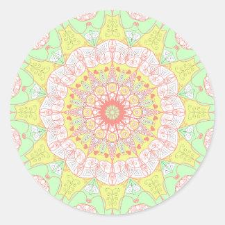 A arte da mandala projeta a etiqueta floral da