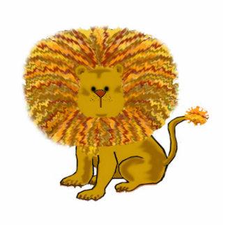 A arte das crianças do leão dos desenhos animados foto escultura