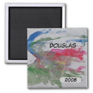 A arte de Douglas Ímã Quadrado