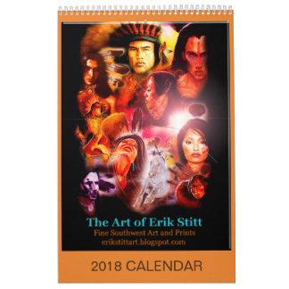 A arte do calendário de Erik Stitt 2018