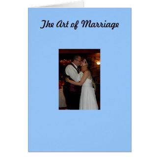 A arte do casamento cartão