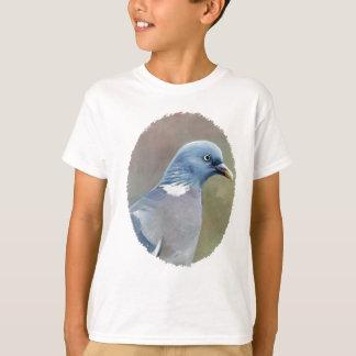 A arte do pássaro do pombo caçoa a camisa de t