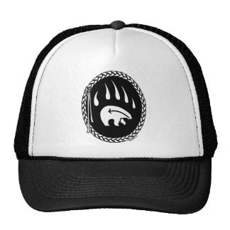 A arte do urso nativo tampa o chapéu tribal da boné