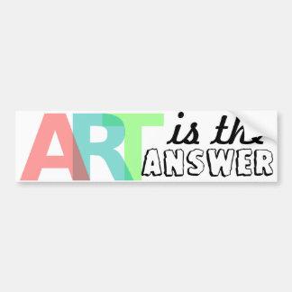 A ARTE é a resposta Bumpersticker Adesivo Para Carro