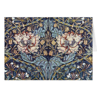 A arte Nouveau da madressilva floresce o cartão