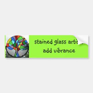 a árvore, artistas do vitral adiciona o vibrance adesivo para carro