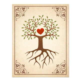 A árvore com reunião de família ornamentado do qua convites personalizados