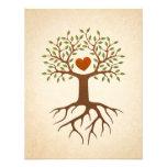 A árvore com reunião do coração e de família das r convites personalizados