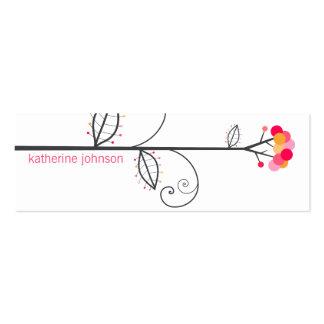 A árvore da flor pontilha o cartão de visita *07 l