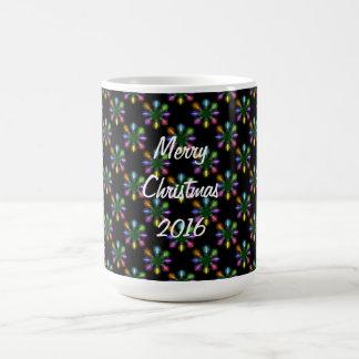 A árvore de Natal ilumina o teste padrão Caneca De Café