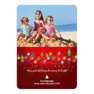 A árvore de Natal Sparkling ilumina o cartão com Convite 12.7 X 17.78cm