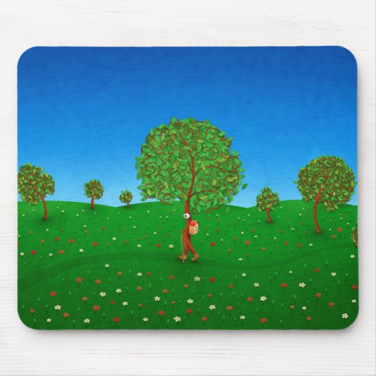 A árvore de viagem mouse pad