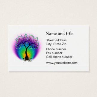 A árvore do arco-íris de vida conecta com seu cartão de visitas