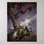 A árvore do Dia das Bruxas Poster