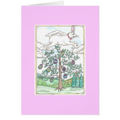 A árvore do ovo da páscoa cartões