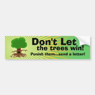 A árvore má pune envia o design de letra adesivos