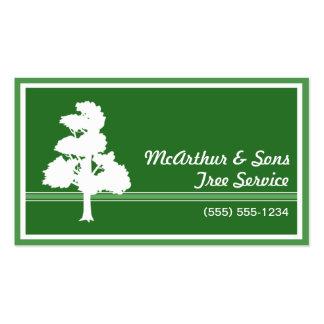 A árvore presta serviços de manutenção a ajardinar cartoes de visita