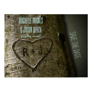 A árvore rústica cinzela -- Salvar o cartão da