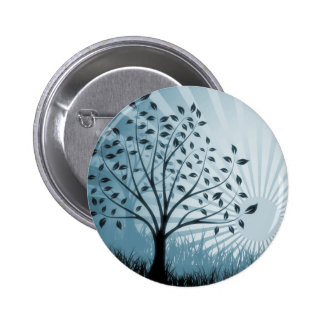 A árvore sae da silhueta da grama & do Sunburst -  Pins
