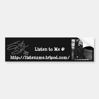 "A assinatura de Jeff Scott ""escuta-me"" autocolante Adesivo"