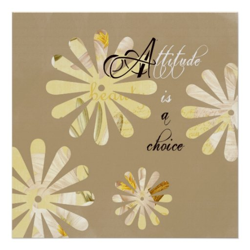 A atitude é uma escolha impressão