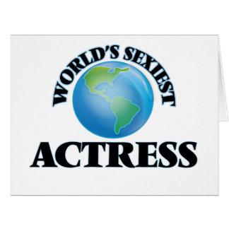 """A atriz a mais """"sexy"""" do mundo cartões"""
