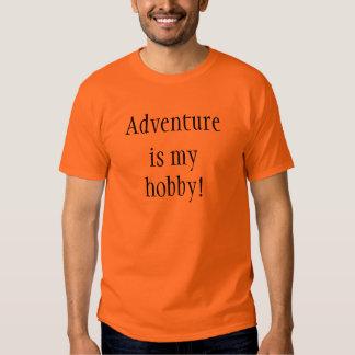 A aventura é meu passatempo! camisetas