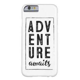A aventura espera a capa de telefone