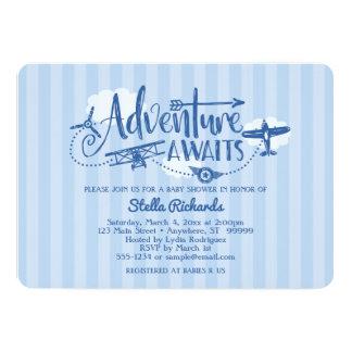 """A """"aventura espera"""" o convite do chá de fraldas da"""