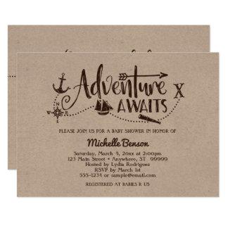 "A ""aventura espera"" o convite náutico do chá de"