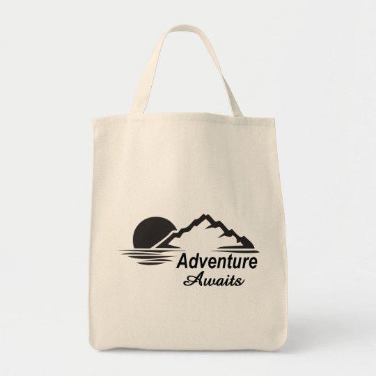 A aventura espera o excelente da natureza fora bolsa tote