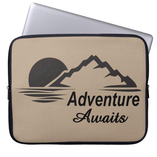 A aventura espera o excelente da natureza fora capa para computador