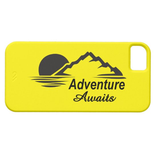 A aventura espera o excelente da natureza fora capa para iPhone 5