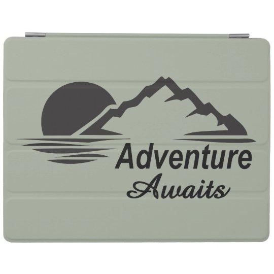 A aventura espera o excelente da natureza fora capa smart para iPad