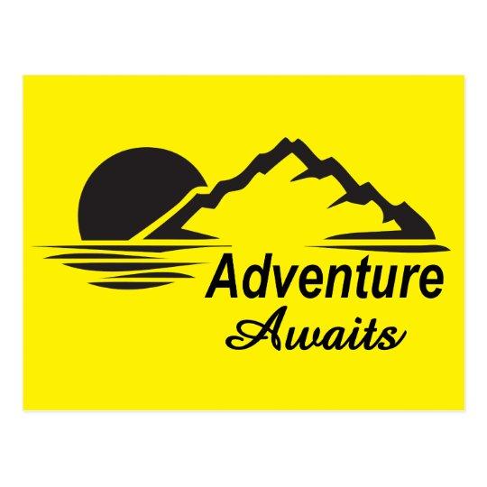 A aventura espera o excelente da natureza fora cartão postal