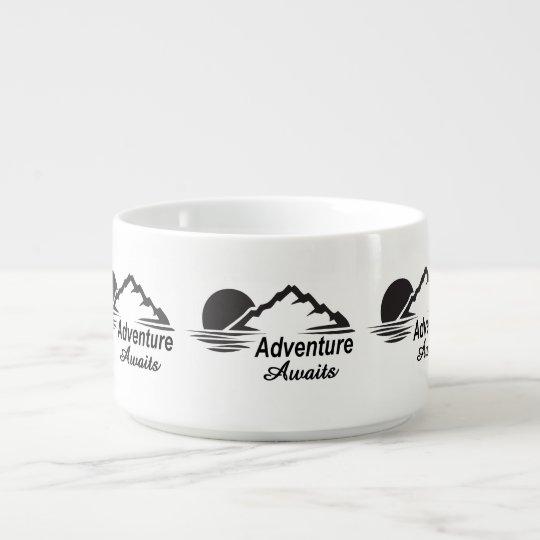 A aventura espera o excelente da natureza fora chili bowl
