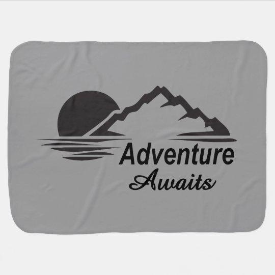A aventura espera o excelente da natureza fora cobertor para bebe