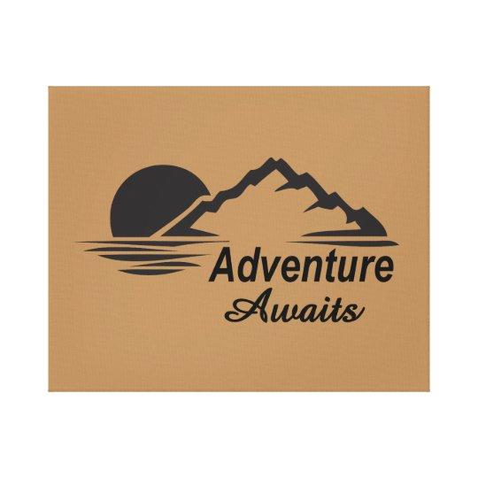 A aventura espera o excelente da natureza fora impressão em tela