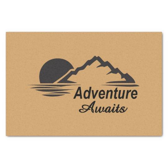 A aventura espera o excelente da natureza fora papel de seda