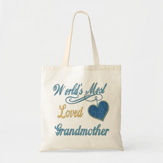 A avó a mais amada do mundo sacola tote budget