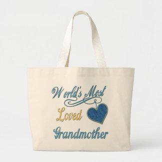 A avó a mais amada do mundo sacola tote jumbo