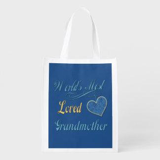A avó a mais amada do mundo sacolas reusáveis