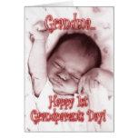 Á avó feliz do dia das avós - bebé cartao