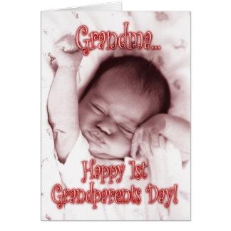 Á avó feliz do dia das avós - bebé cartão comemorativo