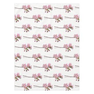 A azálea cor-de-rosa ramifica as flores florais toalha de mesa